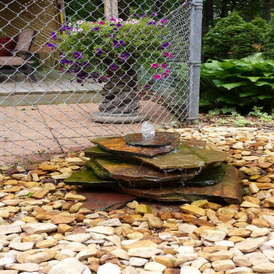 Water feature by Landscape Medics of Green Bay