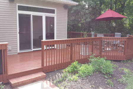 Deck Staining by Landscape Medics of Green Bay